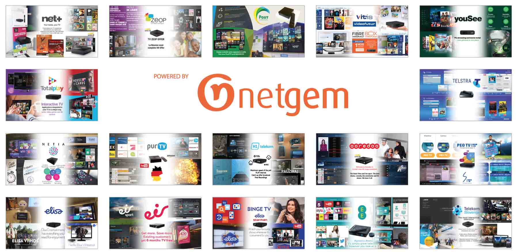 Netgem customers clients